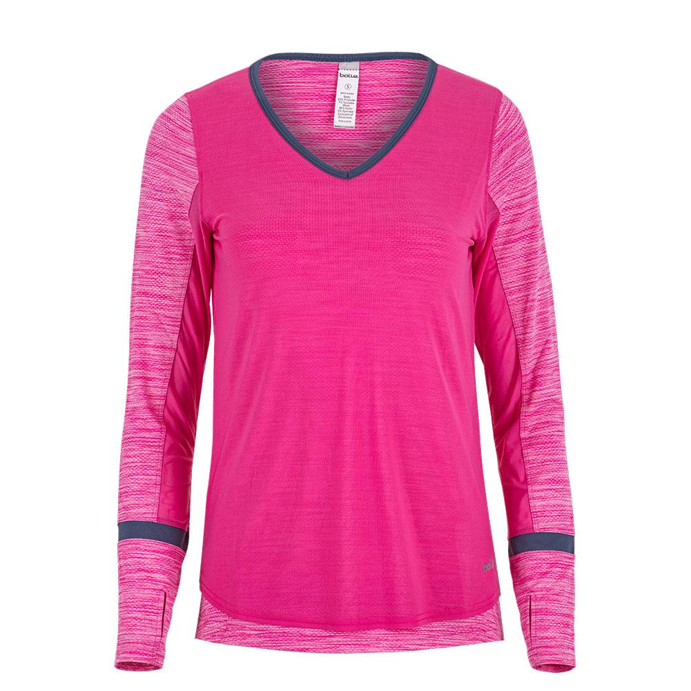 Women's Pink Haze Long Sleeve Tennis Top Pink Passion Heather