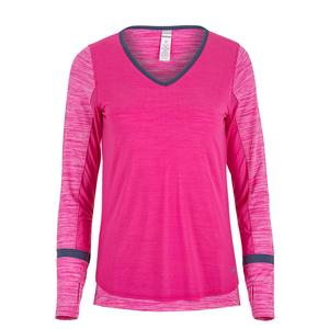 Women`s Pink Haze Long Sleeve Tennis Top Pink Passion Heather