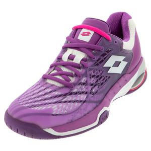 Women`s Mirage 100 Speed Tennis Shoes Purple Willow and All White