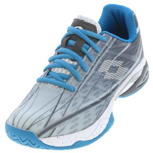 Men`s Mirage 300 Speed Tennis Shoes Silver Metal 2 and All White