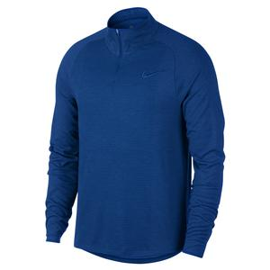 Men`s Court Challenger 1/2 Zip Long Sleeve Tennis Top Indigo Force