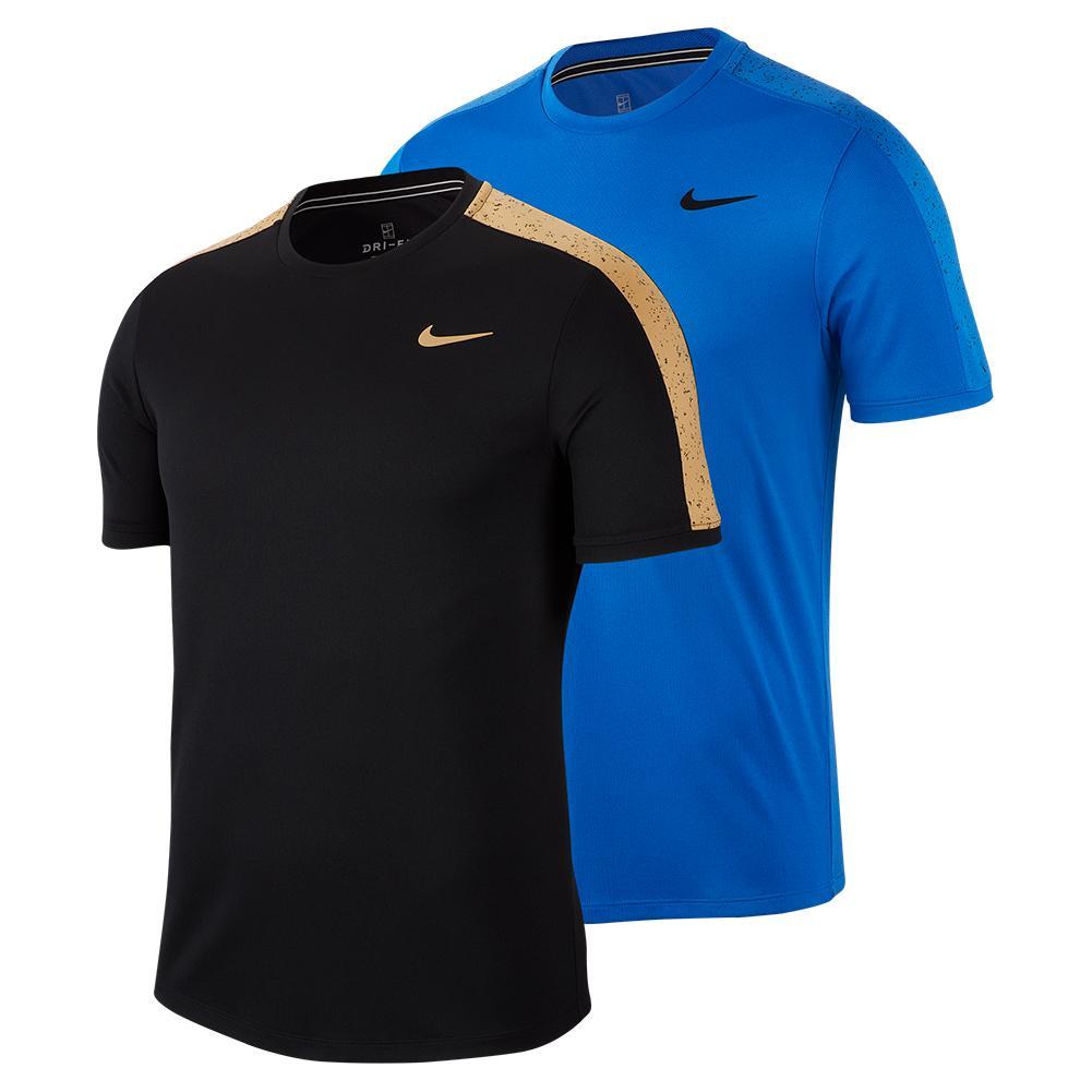 Men's Court Dry Graphic Short Sleeve Tennis Top
