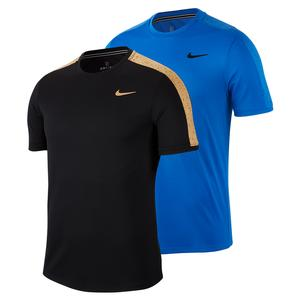 Men`s Court Dry Graphic Short Sleeve Tennis Top