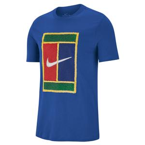 Men`s Court Heritage Logo Tennis Tee Game Royal