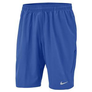 Men`s Court NET Flex 11 Inch Tennis Short Game Royal and White