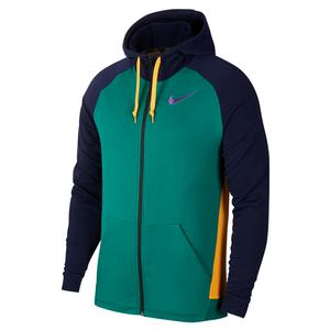 Men`s Dry Training Hoodie Mystic Green and Bright Violet