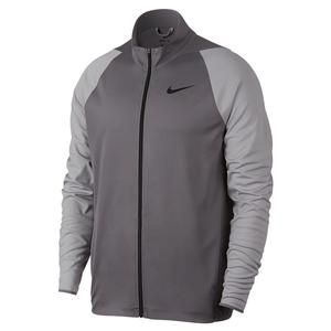 Men`s Knit Training Jacket Gunsmoke and Atmosphere Grey