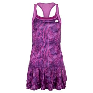 Women`s Top Ten Printed Tennis Dress Purple Willow