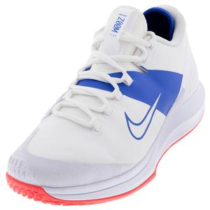 Men`s Court Air Zoom Zero Tennis Shoes White and Game Royal