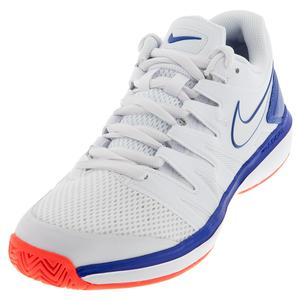 Men`s Air Zoom Prestige Tennis Shoes White and Game Royal