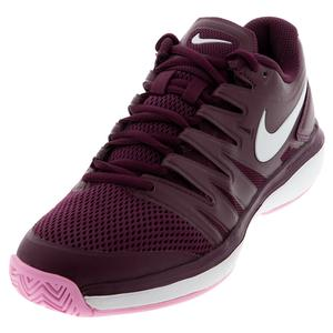 Women`s Air Zoom Prestige Tennis Shoes Bordeaux and White