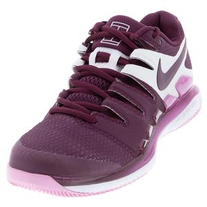 Women`s Air Zoom Vapor X Tennis Shoes Bordeaux and Pink Rise