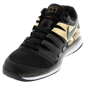 Men`s Air Zoom Vapor X Tennis Shoes Black and Metallic Gold