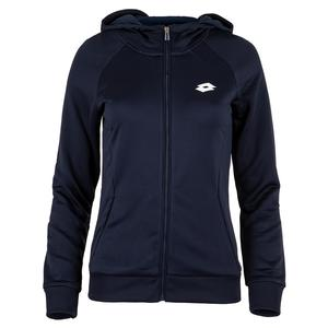 Women`s Squadra Tennis Full Zip Tennis Sweater Navy Blue
