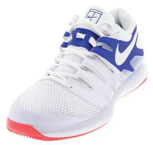 Men`s Air Zoom Vapor X Tennis Shoes White and Game Royal