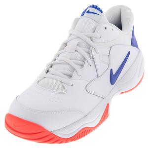 Men`s Court Lite 2 Tennis Shoes White and Game Royal