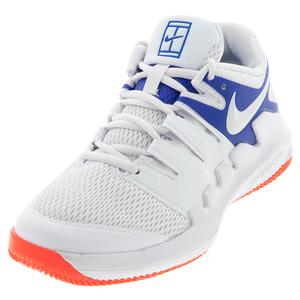 Juniors` Vapor X Tennis Shoes White and Game Royal