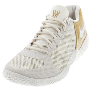 Women`s Flare 2 HC Tennis Shoes Phantom and Metallic Gold