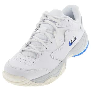 Men`s Court Lite 2 Premium Tennis Shoes White and Game Royal