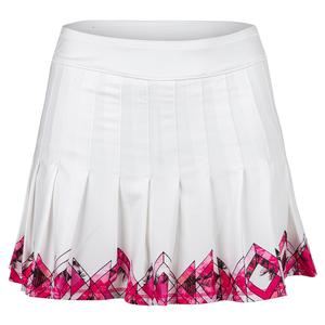 Women`s Long Chroma Pleated Tennis Skort White