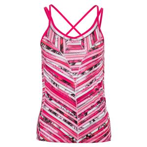 Women`s Chroma Strappy Tennis Tank Shocking Pink