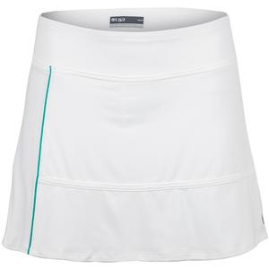 Women`s Fray Tennis Skort White and Teal