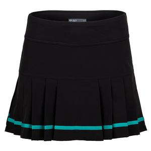 Women`s Club Tennis Skort Black and Teal