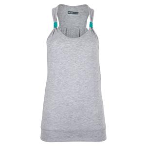 Women`s Willow Tennis Tank Starlight Grey and Teal