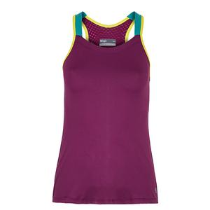 Women`s Trainer Tennis Tank Pansy and Teal