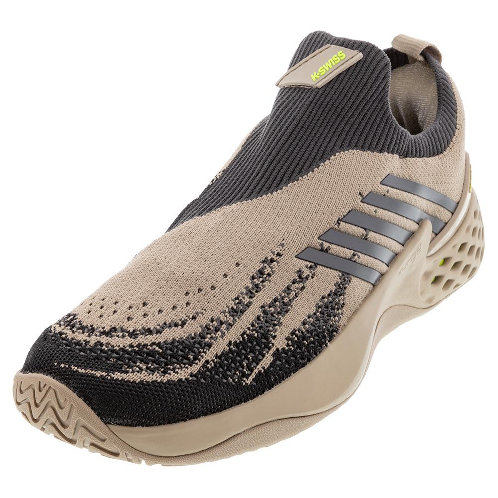 Men's Aero Knit Tennis Shoes Light Taupe And Gull Gray