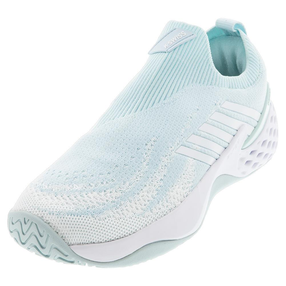 Women's Aero Knit Tennis Shoes Pastel Blue And White
