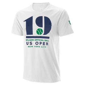 Men`s 2019 US Open M 19 Tennis Tee White
