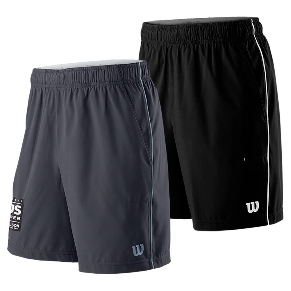Tennisexpress Men`s 2019 US Open Competition 8 Inch Tennis Short Black and White