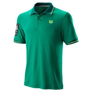 Men`s 2019 US Open Star Tipped Tennis Polo Deep Green
