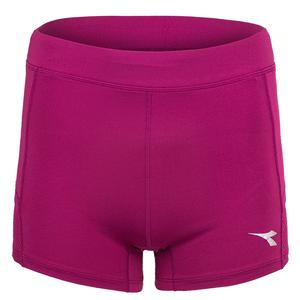 Women`s Fitted Tennis Shorts with Pockets in Violet Boysenberry