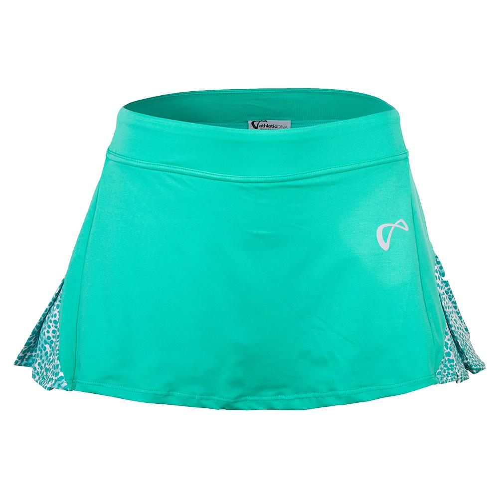 Women's Action Pleated Tennis Skort Spearmint And Appaloosa