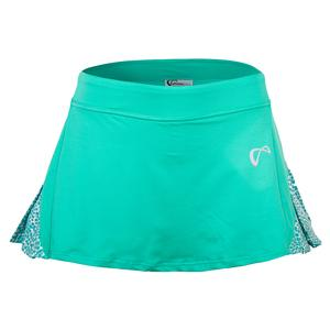 Women`s Action Pleated Tennis Skort Spearmint and Appaloosa