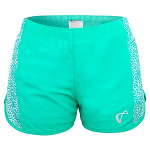Girls` Serve Tennis Short Spearmint and Appaloosa