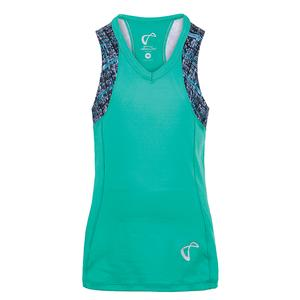 Girls` Baseline V-Neck Tennis Tank Spearmint and Hatch