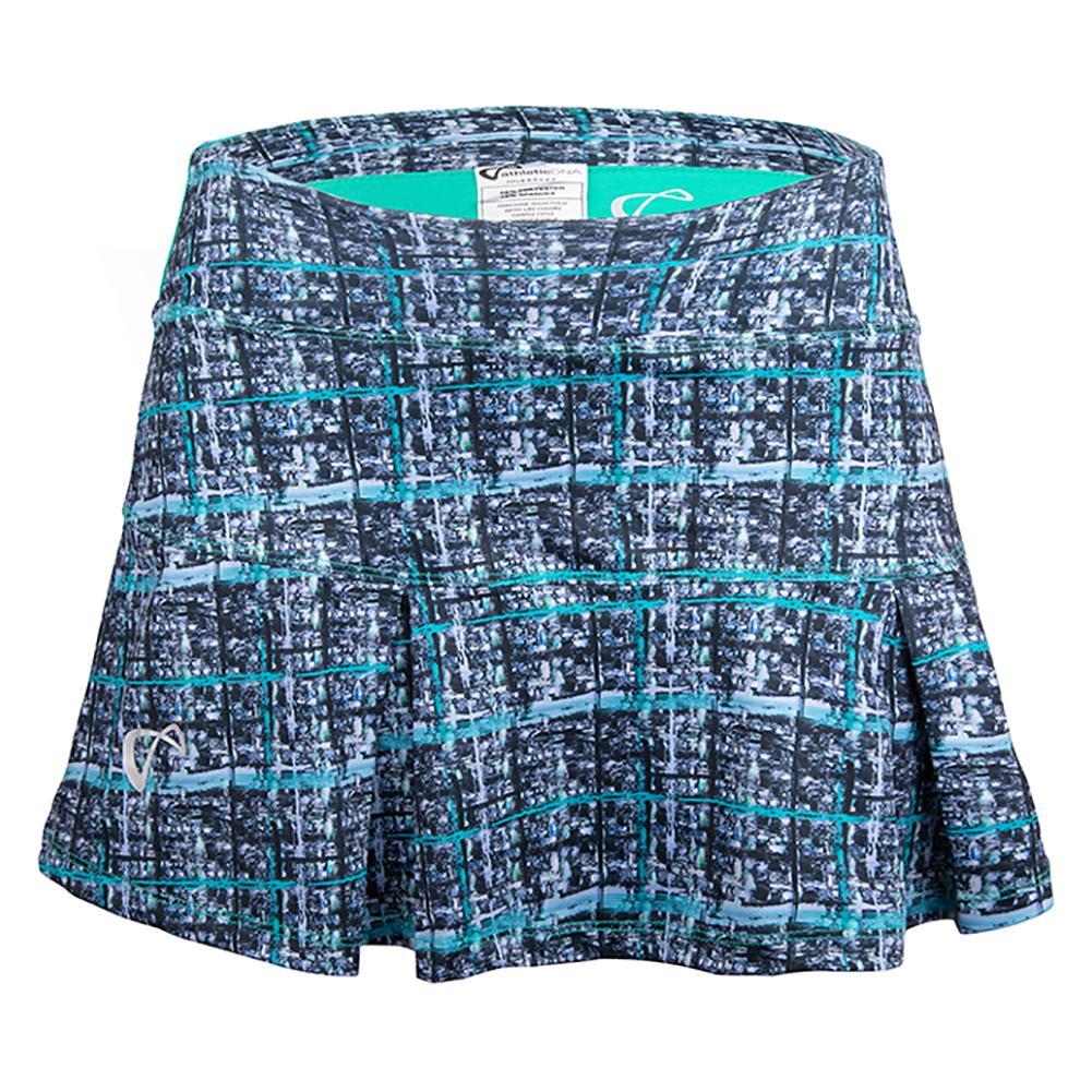 Girls ` Baseline Pleated Tennis Skirt Hatch Spearmint