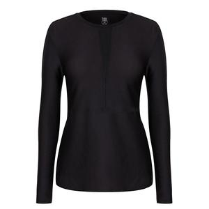 Women`s Nayeli Long Sleeve Tennis Top Onyx