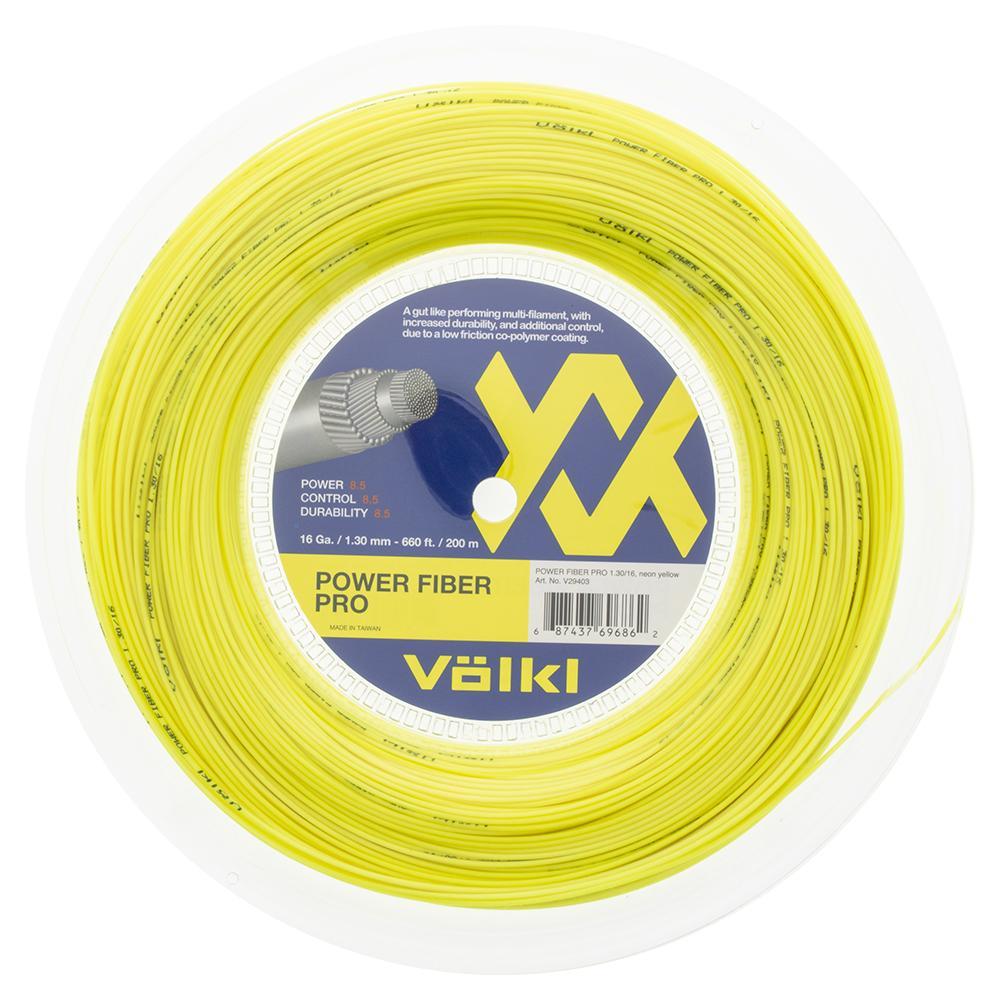 Power Fiber Pro Neon Yellow Tennis String Reel