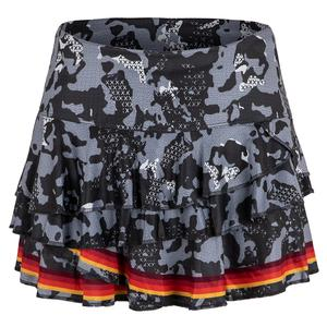 Women`s Camo Rally Tennis Skort Charcoal