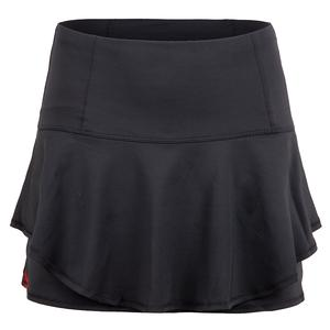 Women`s Long Groovy Stripe Flip Tennis Skort Charcoal