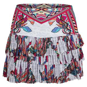 Women`s Hi-Print Pleated Tennis Skort Phoenix Rising