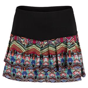 Women`s Hi-Print Tennis Skort Tribal Jewel