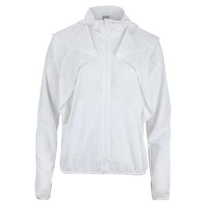 Women`s Laser Flip Tennis Jacket White