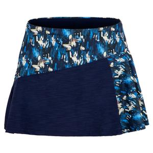 Women`s Diverge 13 Inch Tennis Skirt Flashes Print and White