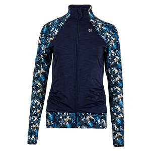 Women`s Elite Tennis Jacket Flashes Print and Blue Nights