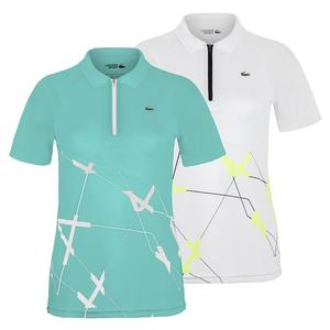 Women`s Ultra Dry Printed Zip Tennis Polo